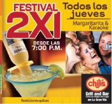Chilis grill and bar MARGARITAS 2x1 - 03oct13