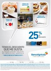 Descuento en restaurantes con Banco Agricola - 21oct13