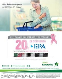 Descuento este finde en EPA con Banco Promerica - 25oct13