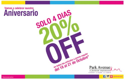 Descuentos en Park Avenue El Salvador a fashion statment - 18oct13