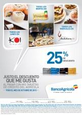 Descuentos en restaurantes BAnco Agricola - 14oct13