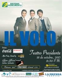 IL VOLO en El Salvador 18 de octubre 2013