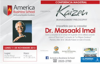 Kaizen managment philosophy Dr Masaaki Imai El Salvador