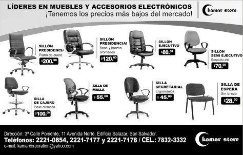 Kamar Store muebles y sillas empresariales en oferta - 28oct13