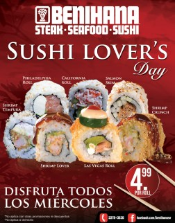 Miercoles SUSHI LOVERS en BENIHANA - 16oct13