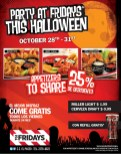 Party at FRIDAYS this halloween - 28oct13