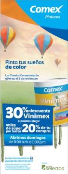 Pinturas COMEX promociones y descuento - 31oct13