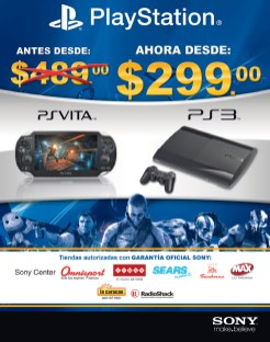 PlayStation ofertas PS Vita and PS3 - 15oct13
