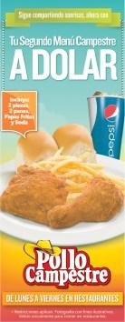 Pollo campestres segundo menu a dolar - 07oct13