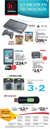Radio Shach ofertas en video games - 16oct13