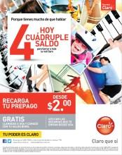 Recargas CLARO hoy cuadruple saldo - 09oct13