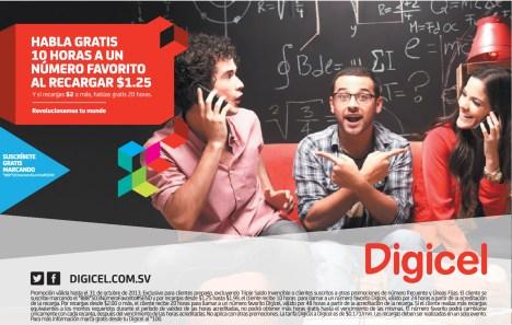 Recargas DIGICEL promocion habla gratis - 09oct13