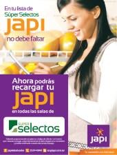Recargas JAPI ahora desde super selectos - 07oct13
