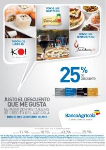 Restaurante Pasquale discounts y mas Banco Agricola - 07oct13
