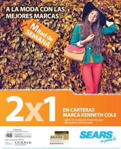 SEARS promocion de hoy carteras KENNETH COLE - 02oct13