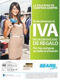 SEARS promocion te devolvemos el IVA - 04oct13