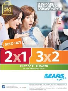 SEARS promociones de hoy 2x1 y 3x2 - 25oct13