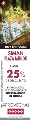 SIMAN plaza mundo descuento en tu hogar - 25oct13