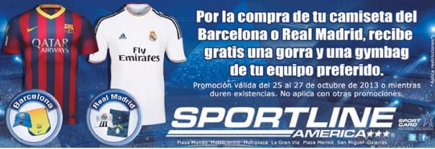 SPORT LINE Camisetas del barcelona y Real Madrid - 25oct13