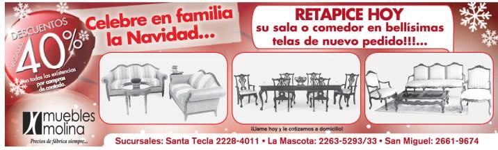 ofertas Muebles MOlina el salvador - 25oct13
