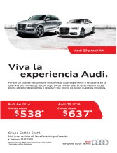 Audi Q5 y Audi A4 vive la experiencia cuotas desde - 21nov13