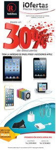 Descuentos RADIO Shack El Salvador en productos apple - 08nov13