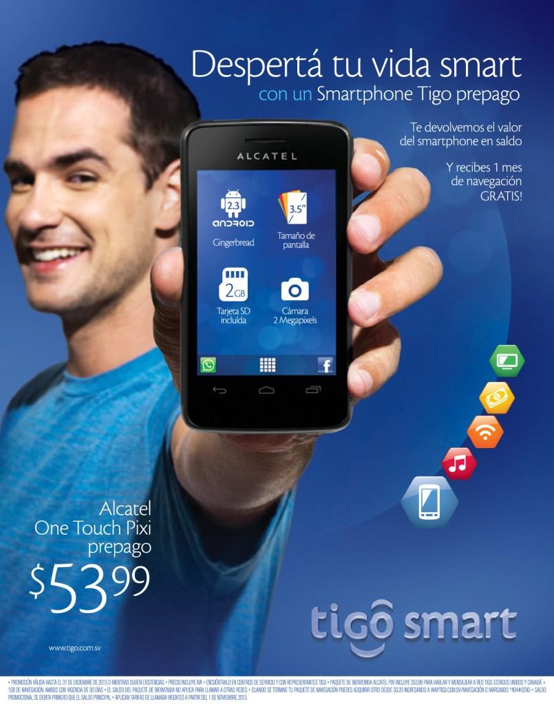 Desperta tu vida smart con una smartphone TIGO prepago - 18nov13