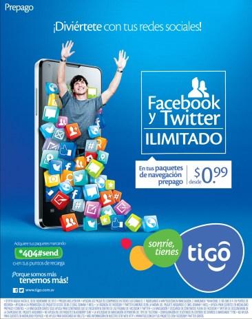 Diviertete con las REDES SOCIALES Tigo promociones - 07nov13