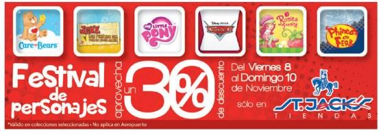Festival de personajes promocion Tiendas St Jacks EL Salvador - 08nov13