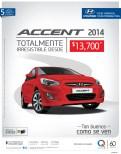Hyundai Accent 2014 savings