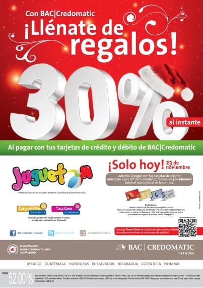 JUGUETOn descuento solo hoy cno tarjetas CREDOMATIC - 23nov13