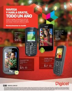 Moviles DIGICEL android promocion navega y habla gratis - 21nov13