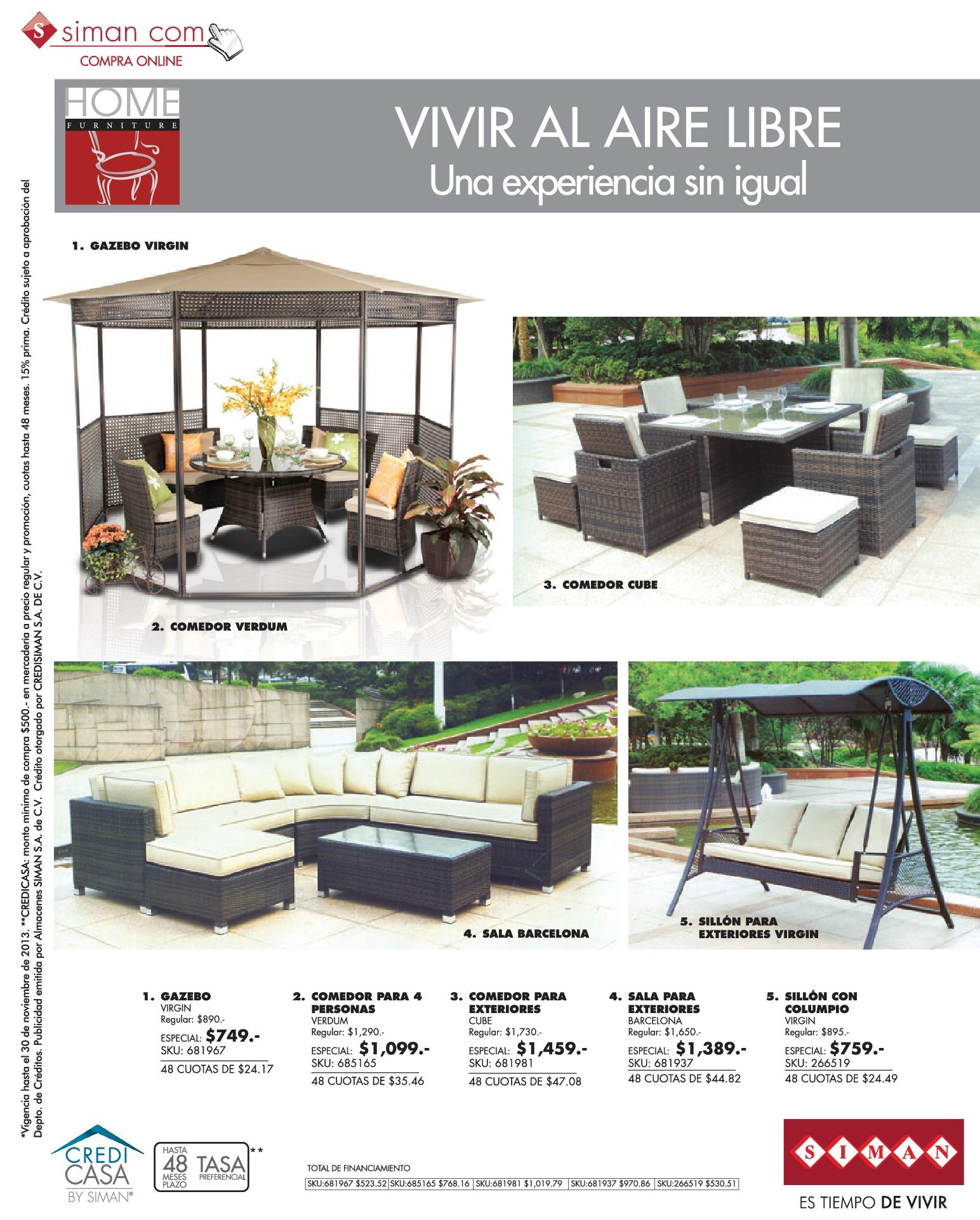 ofertas muebles de jardin muebles de jardin y terrazas ofertas 02nov13