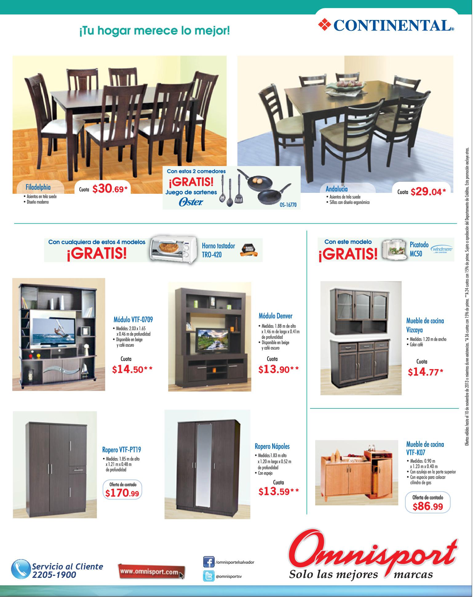 Ofertas OMNISPORT el salvador muebles y comedores