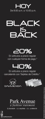 Park Avenue black friday promotions - 29nov13
