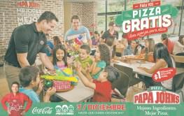 Pizza GRATIS gracias a PAPA JOHNS