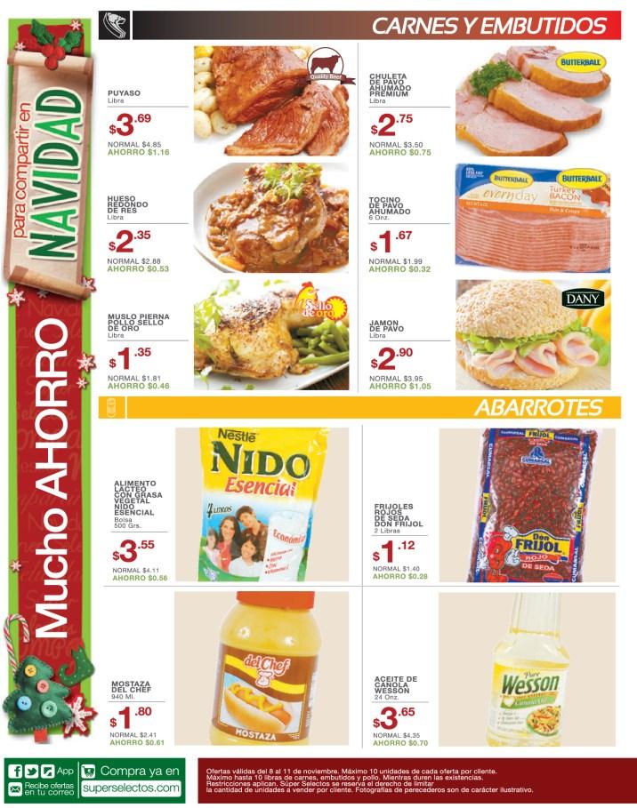 Promociones Super Selectos el salvador hoy carnes y embutidos - 08nov13