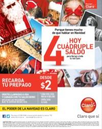 Recargas CLARO hoy cuadruple saldo - 22nov13