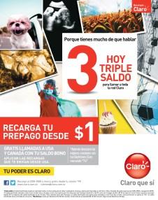 Recargas CLARO hoy triple saldo - 06nov13