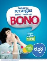 Recargas TIGO tienen BONO - 18nov13