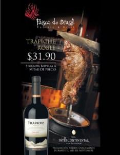 Restaurante Faisca do Brasil vino Trapiche Roble - 15nov13