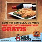 Señor Gaucho botella de vino con empanadas gratis