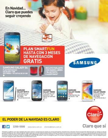 Smartphones CLARO el salvador planes smart fun - 11nov13