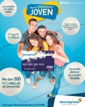 Tarjeta de debito VISA JOVEN con Banco Agricola - 14nov13