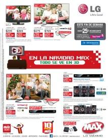 Tiendas MAX promociones Tecnologia electronica audio video - 22nov13