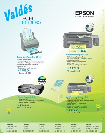 VALDES Tech Leaders ofertas impresores EPSON - 19nov13