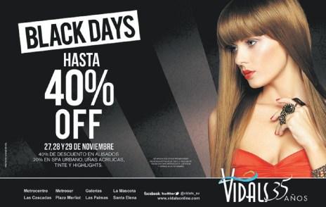 VIDALS Black Friday promociontion 2013