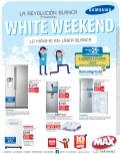 WHITE WEEKEND en tiendas max - 15nov13