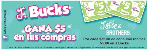 gana con J BUCKS is justice and brothers MULTIPLZA