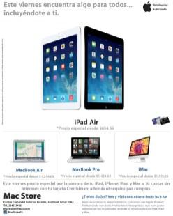 iPad Air promotion MAC STORE san salvador - 29nov13